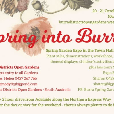 Burra Districts Open Gardens and Spring Garden Expo